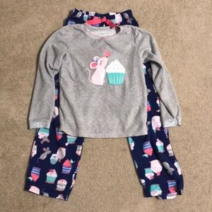 Carters size 8 fleece PJs